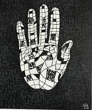 Crossword Hamsa  by Hila Abada