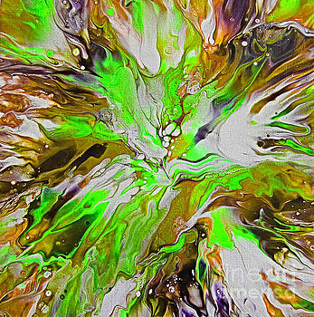 Crushed Lime Abstract by Trudee Hunter