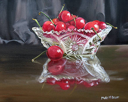 Crystal And Cherries by Phyllis Beiser