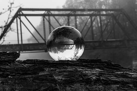 Crystal Vision Trestle Bridge B and W  Murphy by Kelly Kennon