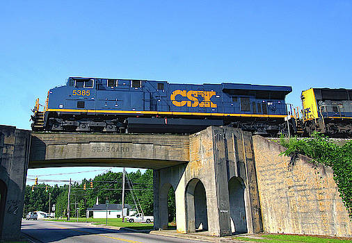 CSX Over SBD Bridge by Joseph C Hinson Photography