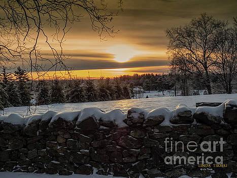 Ct Sunset in January  by Linda Troski