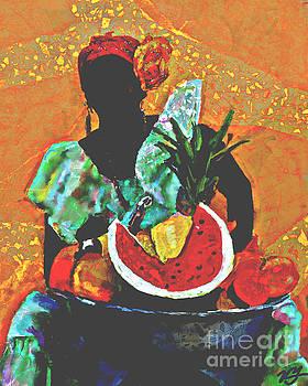 Cuban Fruit Lady by Vannetta Ferguson