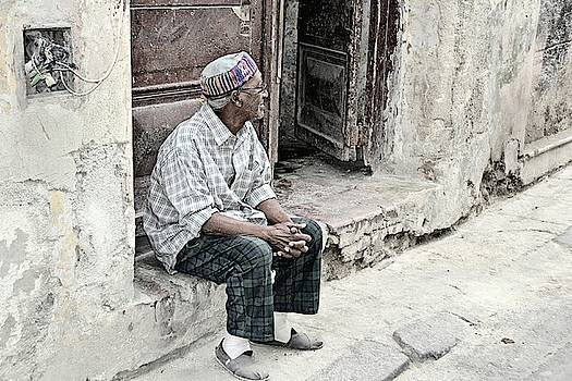 Cuban Gentleman In Quiet Reflection by Toni Abdnour