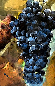 Cubism Grape Painting by Lisa Kaiser