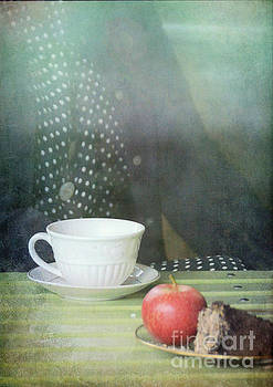 Cup with Apple and Cake by Jill Battaglia
