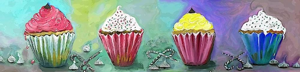 Cupcake Decorations And Candies Painting by Lisa Kaiser