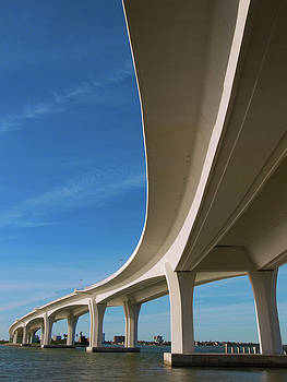 Curved Bridge Overpass Over The Water by Dsharpie