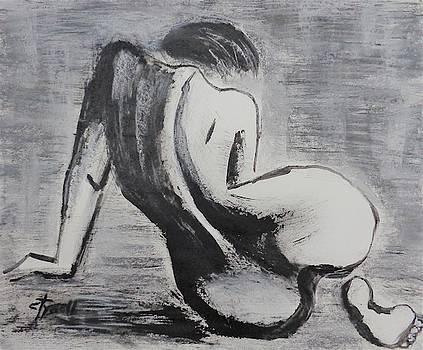 Curves 38 - Female Nude by Carmen Tyrrell