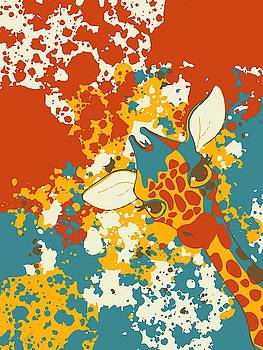 Cute Giraffe Abstract by Gabriella Weninger - David