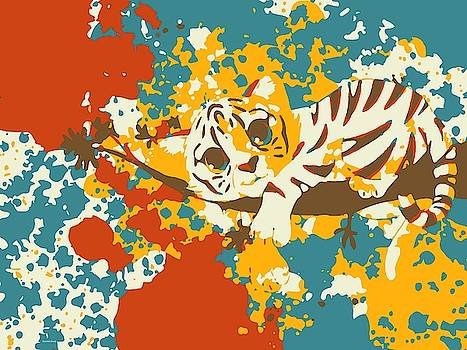Cute little Tiger Abstract by Gabriella Weninger - David