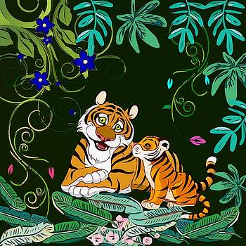 Cute Tigers by Gabriella Weninger - David