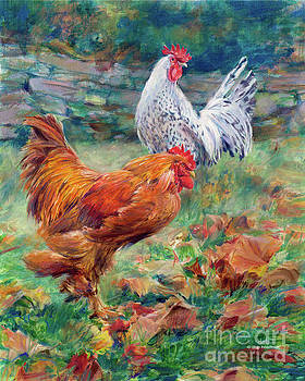 Cuttalossa Mill Roosters by Deb Hoeffner