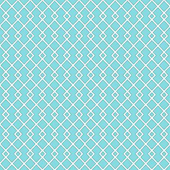 Cyan Blue Diamond Pattern by Ross
