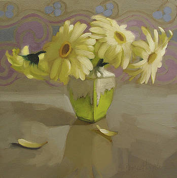 Daisies on Gray by Diane Hoeptner