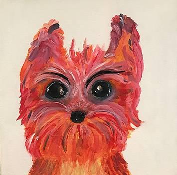 Daisy Pink Puppy by Brenda Boss