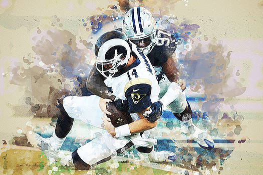 Dallas Cowboys against Los Angeles Rams by Nadezhda Zhuravleva
