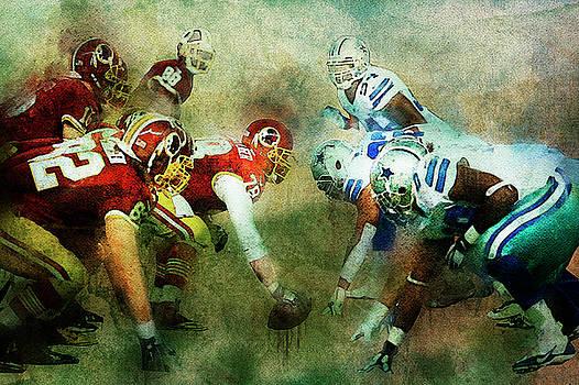Dallas Cowboys against Washington Redskins by Nadezhda Zhuravleva
