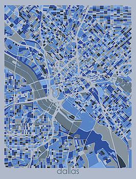 Dallas Map Retro 5 by Bekim M
