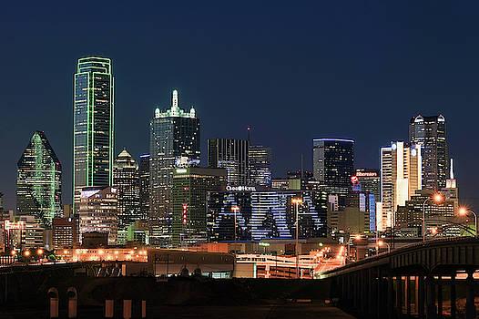 Dallas Night Skyline 032119a by Rospotte Photography