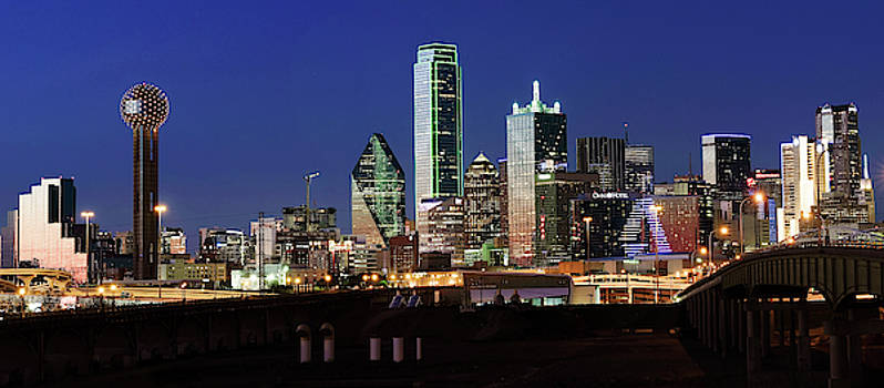Dallas Pano Skyline 041719 by Rospotte Photography