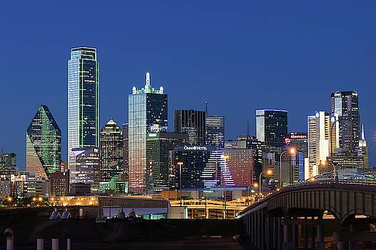 Dallas Skyline Blue 032219 by Rospotte Photography