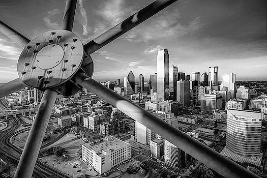 Dallas Skyline Infrared Monochrome From Reunion Tower by Gregory Ballos