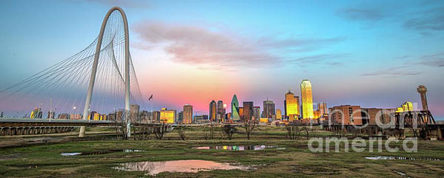 Dallas Skyline Supermoon by Charles Dobbs