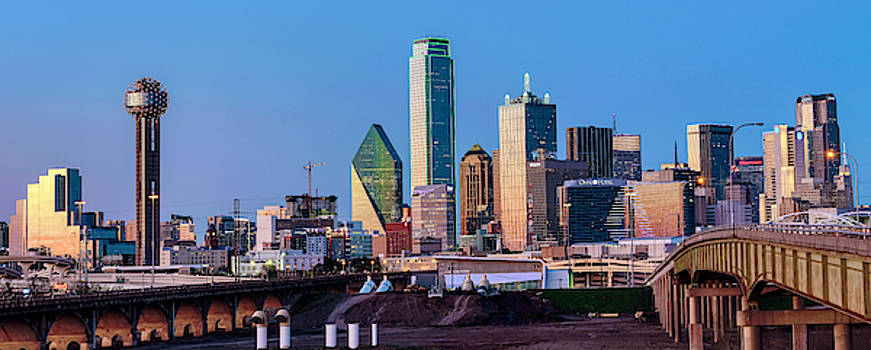 Dallas Texas Blue Hour Skyline 040519 by Rospotte Photography