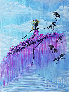 Dancer And Dragonflies  by Tammera Malicki-Wong