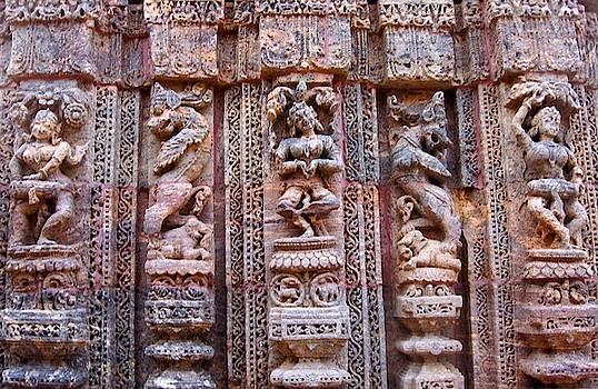 Dancer and Musicians at Konark Temple, Orissa, India by David Wells