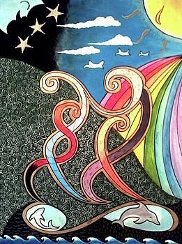 Dancing Abstract by John Lyes