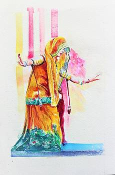 Dancing action by Khalid Saeed