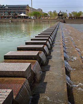 Danghe River Crossing Dunhuang Gansu China by Adam Rainoff