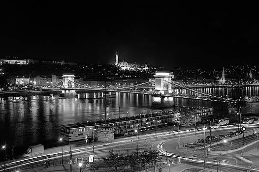 Danube River at Night by Mark Duehmig
