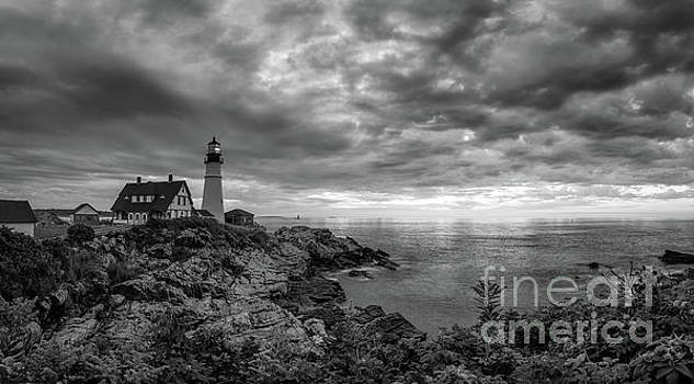 Dark Clouds Over Portland Head Lighthouse by Michael Ver Sprill