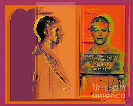 David Bowie mugshot Pop Art Warhol style by Jean luc Comperat