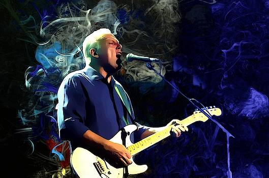 David Gilmour Portrait  by Scott Wallace Digital Designs