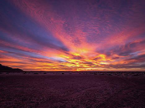 Dawn at Bonneville Salt Flats by Michele James