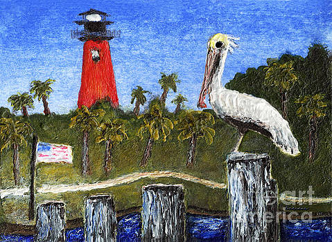 Ricardos Creations - ACEO Dawn at Jupiter Inlet Lighthouse Florida 52a