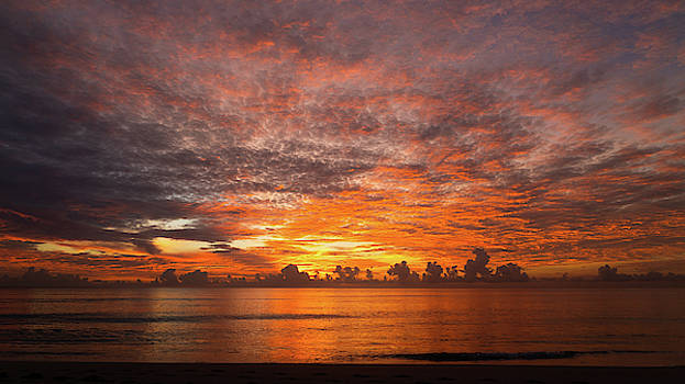 Dawn Glow Delray Beach Florida by Lawrence S Richardson Jr
