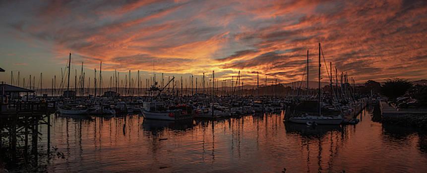 Dawn Monterey Bay California by Steve Gadomski