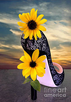 Day Dreams  SunFlower Shoe by Sherry Little Fawn Schuessler