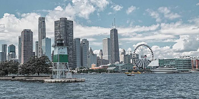 Dazzling Day Navy Pier Chicago by Betsy Knapp