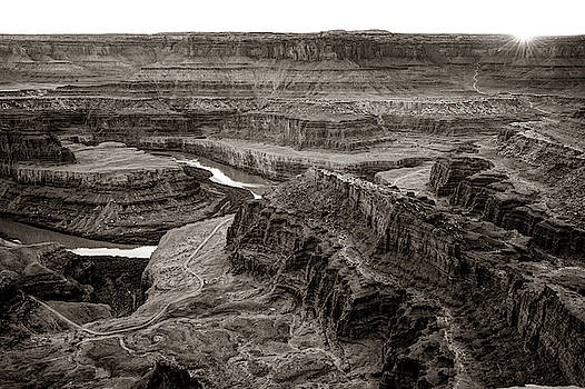 Dead Horse Point State Park Sepia Landscape by Gregory Ballos