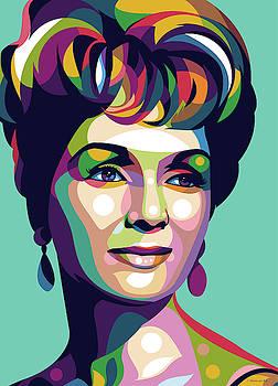 Debbie Reynolds by Stars-on- Art