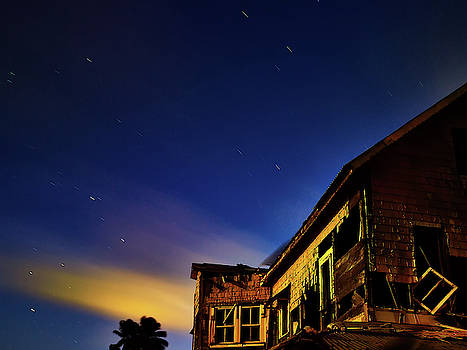 Decaying house in the moonlight by Trinidad Dreamscape