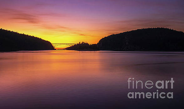 Deception Pass Sunset Serenity by Mike Reid