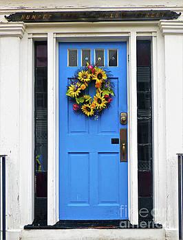 Sharon Williams Eng - Decorated Blue Door