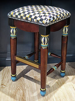 Decorative Stool by Dave Mills